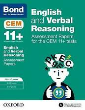 BOND 11+ CEM Test For English & Verbal Reasoning Age 10-11 9780192842841