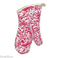 Michel Design Works Cotton Kitchen Oven Mitt Holiday Christmas Candy Cane - NEW