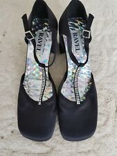 Women's NEW Mary Jane T Bar SPARKLE Leah shoes in Black by RAVEL size 3 euro 36
