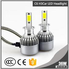 H3 LED Headlight 36W 3800LM Car Bulbs 6000K Auto Fog Light Headlight COB C6 Lamp
