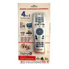 MANDO A DISTANCIA UNIVERSAL DIGIVOLT PARA TELEVISION TDT DVD Y SAT LCD NUEVO