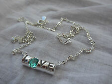 """Green Amethyst """"Love""""Pendant Sterling Silver with 40 cm chain - NEW Collection"""