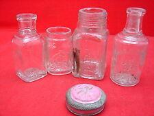 4 jolis anciens flacons parfums