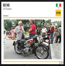 1950 Moto Rumi 125cc Turismo Italy Bike Motorcycle Photo Spec Sheet Info Card