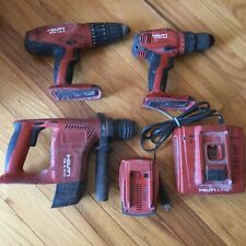 Hilti Te 4 A18 Sds Hammer Drill Sfh18 A Sf 6h A22 Battery Amp Charger Tool Lot