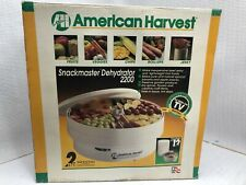 American Harvest Snackmaster Food Dehydrator 2200  TESTED, OPEN BOX