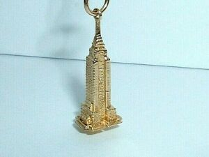 14K YELLOW BEVERLY HILLS GOLD NEW YORK EMPIRE STATE BUILDING PENDANT CHARM