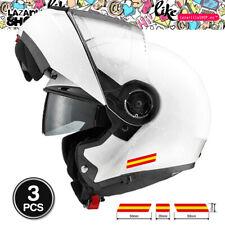 (3pcs) BANDERA DE ESPAÑA Pegatinas moto Sticker Vinilo coche casco bici portátil