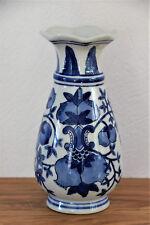 Vase Aus Porzellan   Blau Weiß 20 Cm Hoch