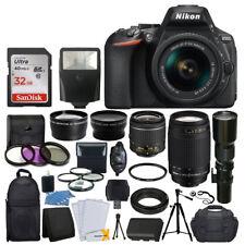Nikon D5600 DSLR Camera w/ 18-55mm VR + 70-300mm + 500mm +32GB Top Value Kit New