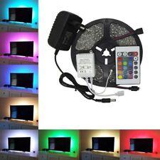 12V 500CM LED Strip Lights TV Back Home Decor RGB Multi Colour + Remote Control