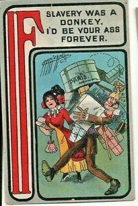 comic postcard Ass Joke #25: Shopping Trip