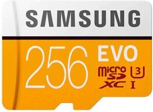 SAMSUNG EVO microSD Memory Card - 256GB with Adapter