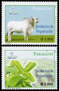 COWS/STAMPS, PARAGUAY 2009 - MERCOSUR, EXPORTATION MNH