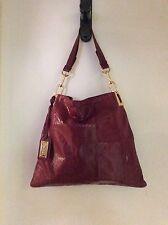 Badgley Mischka GAIA Shine Embossed Crocodile Leather Bag ~ Only One