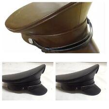 SDL Leatheret Militaire Chapeau/marron 57, 58 cm noir et en 58, 59 cm