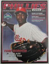 2006 Phillies Baseball Mag #4, C. Hamels 1st Home Start 6-16-06 w FullTix 129795