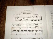 ni jamais ni toujours nocturne à 2 voix piano chant 1872 Mlle Delieu