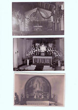 Lot 206: 3 AK PK Fotokarten Kirchen Gotteshäuser Altäre ungelaufen vor 1945