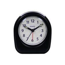 Sharp Quartz Analog Black Ascending Alarm Clock Battery Operated from US Seller