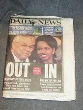 New York Daily News November 16 2004 Full Newspaper with special MSG Tribute