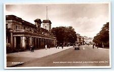 *Pump Room and Parade Leamington Spa Warwickshire England Vintage Postcard C84