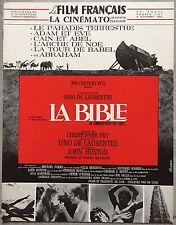 Cinématographie Française LE FILM FRANCAIS LA BIBLE John Huston 1966*