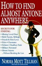 How to Find Almost Anyone, Anywhere by Norma Tilman (1994, Hardcover)