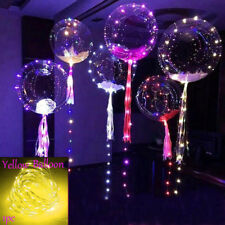LED Light Balloons Transparent Balloon Wedding Birthday Xmas Party Lights Decor Yellow