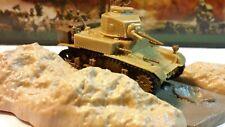 "Vintage Matchbox 1:76 Stuart M3/A1 ""HONEY"" Tank Model Kit 1/76 BUILT wt Diorama"