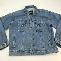 Dr. Martens Denim Jacket Men's XL Long Sleeve Blue Button Front Casual Cotton