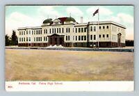 Redlands CA, Union High School, Vintage California Postcard