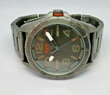 Mens Hugo Boss Gunmetal Grey Large Dial Watch HB.204.1.34.2621