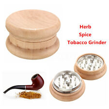 2 Part Metal Tobacco Cigarette Grinder Wood Herb Crusher Spice  Storage Poker