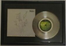 "The Beatles Framed Free As A Bird Silver 7"" Single With Picture Sleeve"