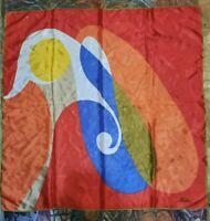 Vintage 1970's Retro Abstract Geometric Beeline Scarf (30 x 30)