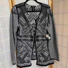 ZOZO White/Black Cotton Long Sleeve  Cardigan Size XL NWT