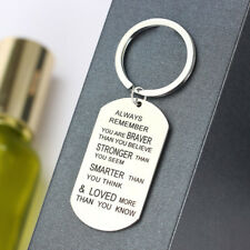 Keyring Keychain Encourage Gift Always Remember You Are Braver Than You Believe
