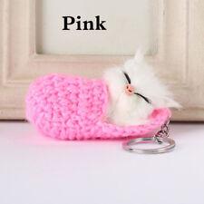 1PC Keyring Accessories Keychain Pendant Sleeping Cat Charm Animal Dangle