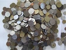 LOT OF 1 TWO LB POUND BULK FOREIGN COINS-MANY COUNTRIES