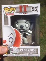 Exclusive Pennywise Black and White Funko Pop Vinyl New in Mint Box