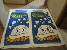 """Vintage """"The Scrubbing Bubble"""" Set of His & Hers (Rita & Bill) Beach Towels"""