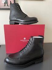 GRENSON Sawyer Boots Black Pebble Leather 8.5 G 113387 BNIB