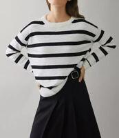 Massimo Dutti Chunky Oversized Striped Casual BohO Pullover Jumper Sweater sz Xs
