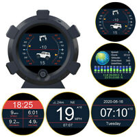 Autool GPS Slope Meter KM/H/MPH LCD Tachometer Inclinometer Speed Alarm 12V Car