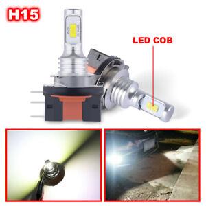 2PCS H15 LED Headlight Bulb Canbus Error Free White High Beam Globe Bulbs