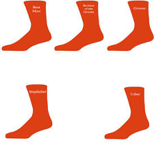 Orange Luxury Cotton Rich Wedding Socks, Groom, Best Man, Usher
