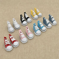 1 Pair Doll Canvas Mini Toy Shoes KPOP 1/6 Plush Dolls Accessorries for Doll Toy
