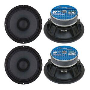 """Audiopipe APMB8 8"""" 2000W Low/Mid Bass Frequency Car Audio Loudspeakers, 2 Pair"""