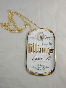 Zapfhahnschild BITBURGER PILS Metallschild Brauerei Simonbräu Bit Premium Pils